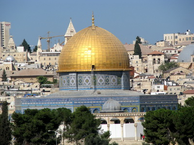 The Dome-on-the-Rock in Jerusalem. (Photos: Günther Simmermacher)