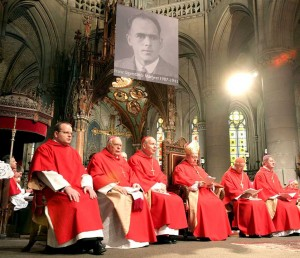 Franz Jagerstatter is beatified in a ceremony in Linz, Austria in 2007.