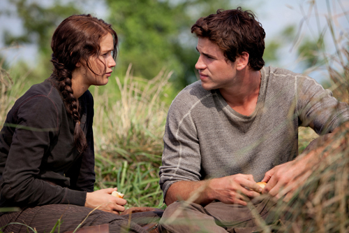 "Jennifer Lawrence and Liam Hemsworth in a scene from ""The Hunger Games"" (Lionsgate)"