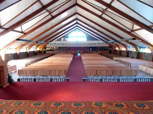 Interior view of Regina Mundi church, Soweto