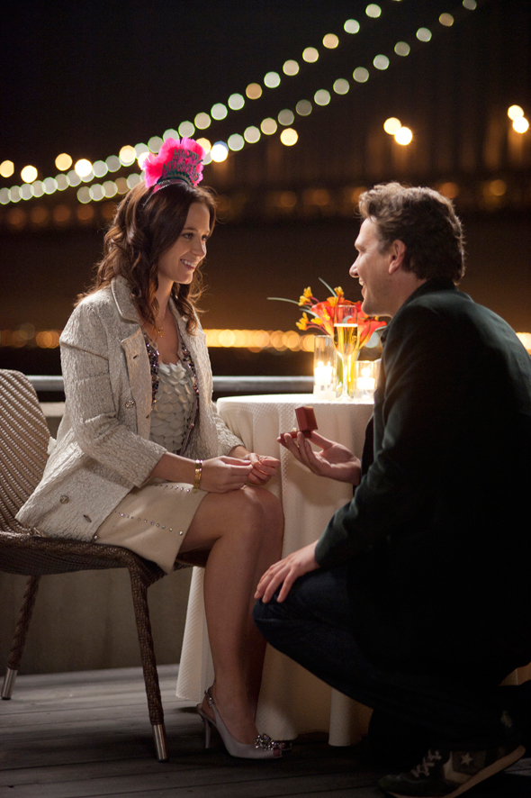"""Emily Blunt and Jason Segel star in a scene from the movie """"The Five-Year Engagement."""""""