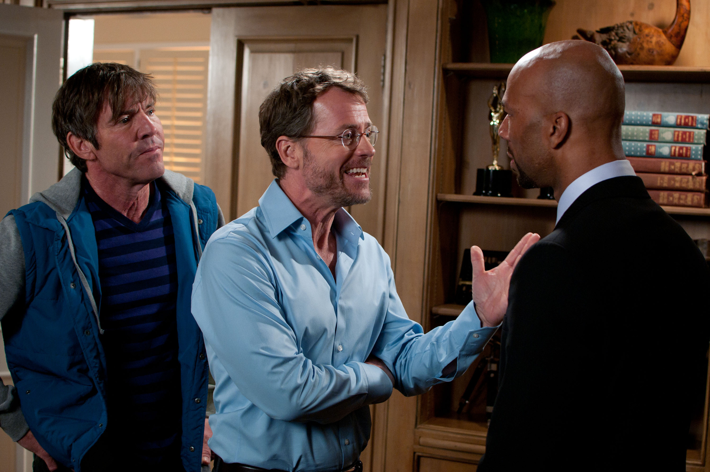 """Dennis Quaid, Greg Kinnear and Common star in a scene from the movie """"Movie 43."""" (CNS photo/Relativity)"""