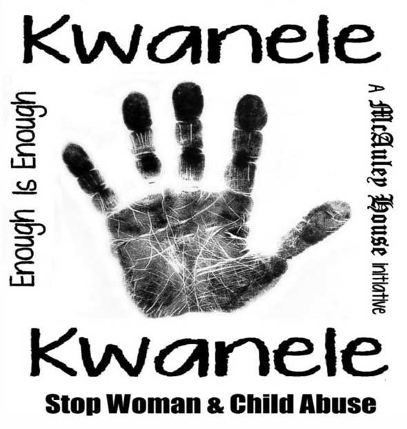 The logo of the Kwanele Kwanele campaign launched by McCauley House, a Catholic school in Johannesburg.