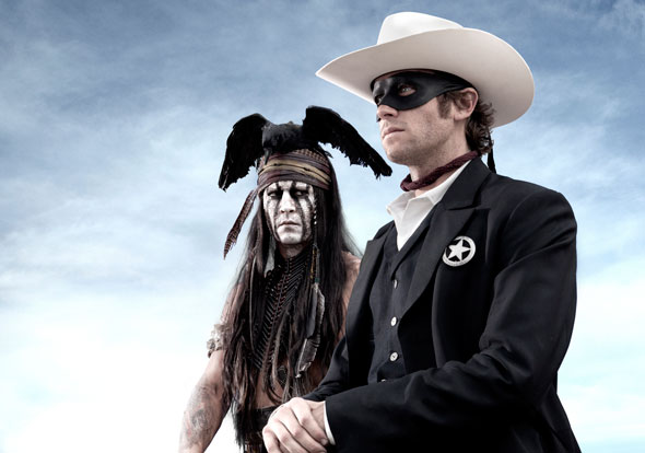 "Johnny Depp stars in ""The Lone Ranger"""