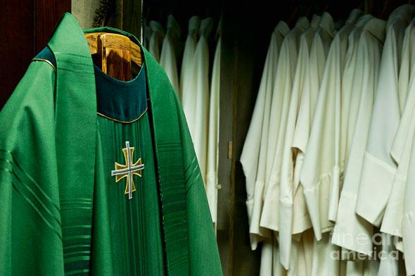 Priests' liturgical vestments. - John Greim (Fineartamerica.com)