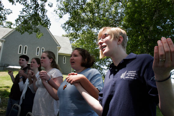 """""""...young people today constitute the most difficult mission facing the Church."""" (CNS photo/Gregory A. Shemitz, Long Island Catholic)"""