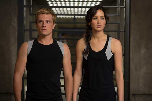 """Josh Hutcherson and Jennifer Lawrence star in the movie """"The Hunger Games: Catching Fire."""" (CNS photo/Lionsgate)"""