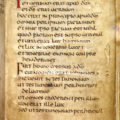 A page from the 7th-century St. Cuthbert Gospel is pictured in a handout photo from the British Library. The Jesuits sold the manuscript -- believed the oldest intact book produced in Europe -- to the British Library for $14.7 million. The pocket-size Latin translation of the Gospel of St. John was found inside the coffin of St. Cuthbert, bishop of Lindisfarne, when the saint's grave was opened in 1104. (CNS photo/courtesy of British Library)