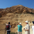 Pilgrims at the Mount of Temptation, near Jericho in the West Bank.
