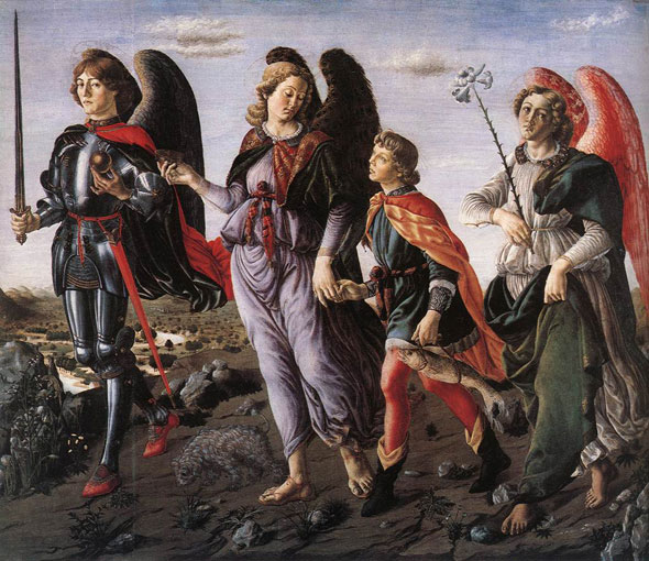The Three Archangels with Tobias by Francesco Botticini