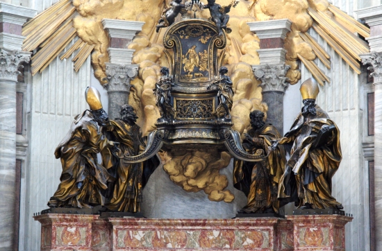 The chair of St Peter at the Vatican.