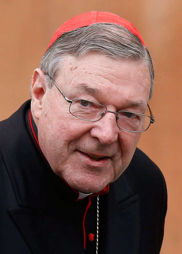 The Vatican announced  that Cardinal Pell has been appointed by Pope Francis to head a new Vatican office overseeing Vatican  finances. (CNS photo/Paul Haring)