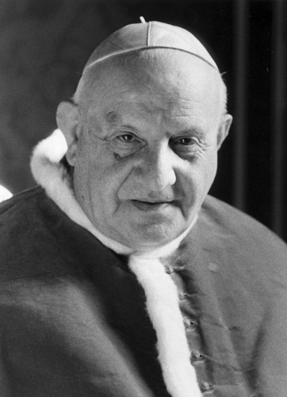 Pope John XXIII, who convened the Second Vatican Council, is pictured in an undated photo. Pope Francis has ask the world's cardinals to vote on the canonization of Blessed John XXIII, even in the absence of a miracle. The announcement came July 5 with Pope Francis' decree that cleared the way for the canonization of Blessed John Paul II, the late Polish pontiff. (CNS file photo)