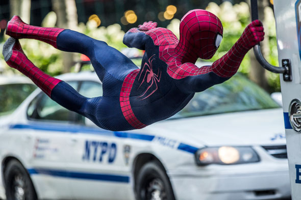 """Andrew Garfield stars in a scene from the movie """"The Amazing Spider-Man 2."""" (CNS photo/Sony)"""