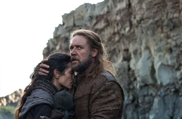 """Jennifer Connelly and Russell Crowe star in a scene from the movie """"Noah."""" The film is one of several biblical epics Hollywood is expected to release in coming weeks. (CNS photo/Paramount)"""