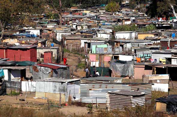 A township in Johannesburg. How much solidarity do Catholics have with the poor?