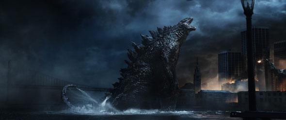 A scene from the moviw Godzilla  (CNS photo/Warner Bros.)