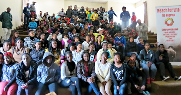 Youths at a recent Bosco Youth Camp in Johannesburg.