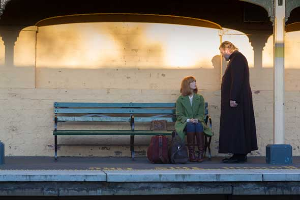 """Kelly Reilly and Brendan Gleeson star in a scene from the movie """"Calvary."""" (CNS photo/20th Century Fox)"""