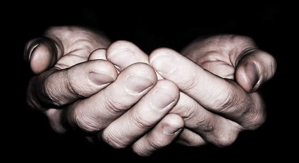 """"""". I express in the gesture of my outstretched hands a humbling: like a beggar I acknowledge my utter reliance on God,"""""""