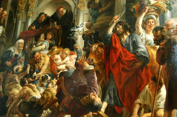 Jesus Chasing the Merchants from the Temple, Flemish, Jacob Jordaens (1593-1678)