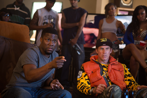 """Kevin Hart and Will Ferrell star in a scene from the movie """"Get Hard (CNS photo/Warner Bros.)"""