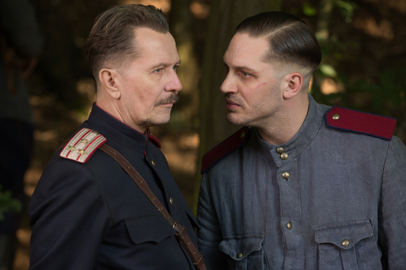 "Gary Oldman and Tom Hardy star in a scene from the movie ""Child 44."" (CNS photo/Summit)"