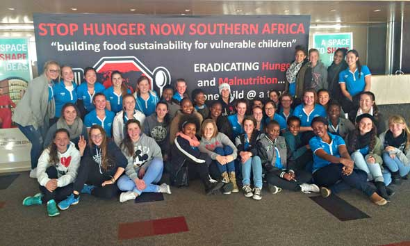 Debutantes  of Holy Rosary High School in Edenvale joined 5000 other Stop Hunger Now volunteers for Mandela Day this year.