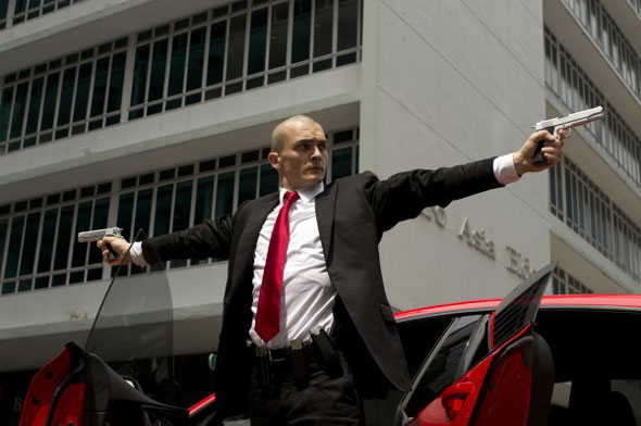 """Rupert Friend stars in a scene from the movie """"Hitman: Agent 47."""" (CNS photo)"""