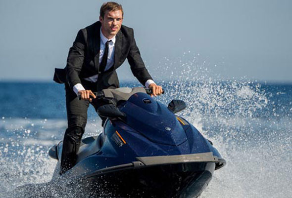 "Ed Skrein stars in a scene from the movie ""The Transporter Refueled."" (CNS photo)"