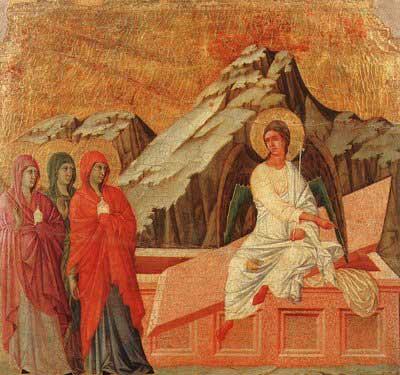 Painting by Duccio di Buoninsegna