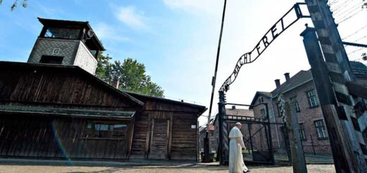 Pope Francis at Auschwitz in July. (Photo:Alessia Giuliani via CNS)