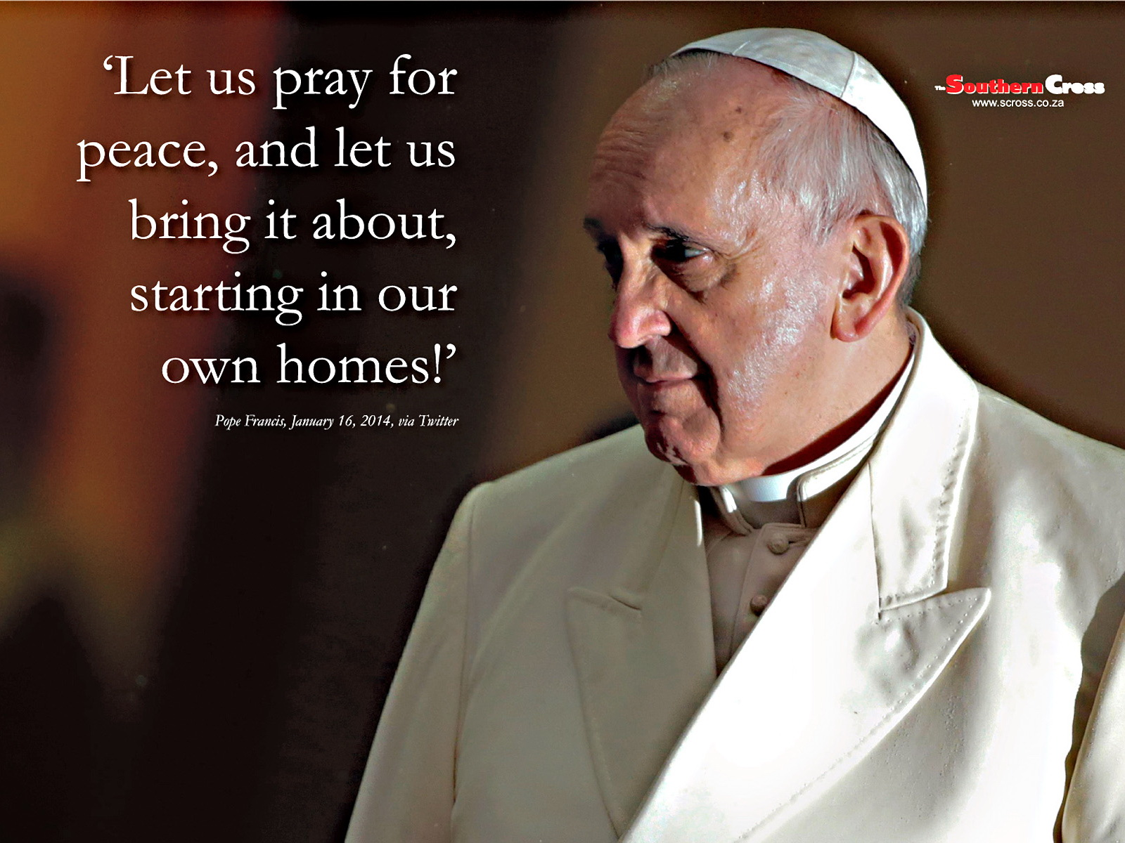 Pope Quotes | Pope Francis Quote Wallpaper The Southern Cross