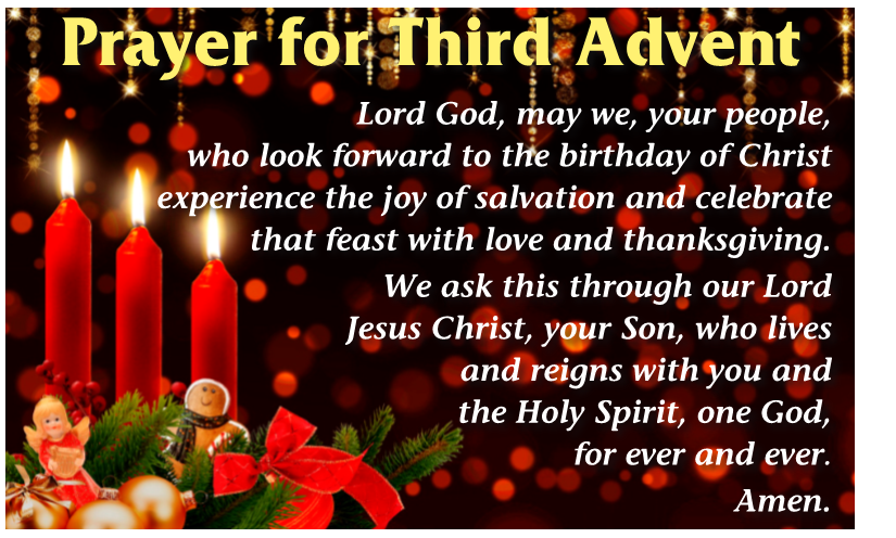 prayer 3rd sunday in advent the southern cross