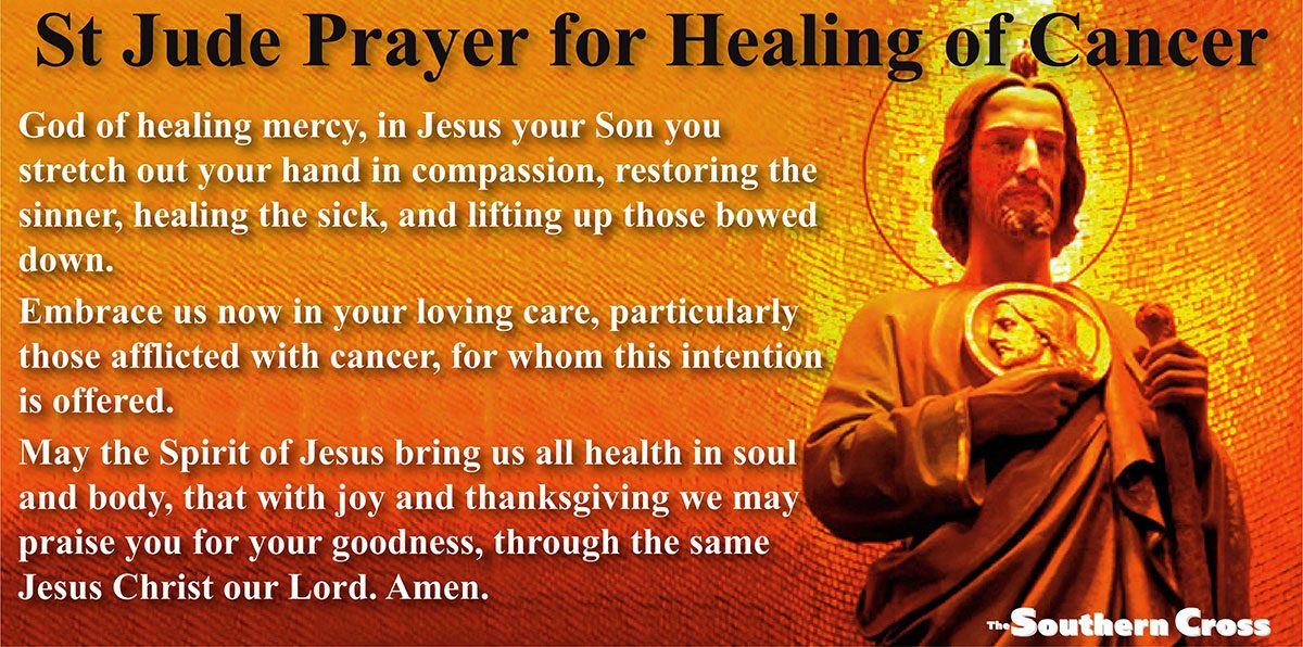 St Jude Prayer for Healing of Cancer - The Southern Cross